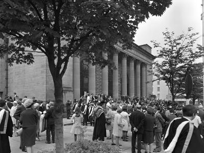University Graduates Outside Sheffield City Hall, South Yorkshire, 1967-Michael Walters-Photographic Print