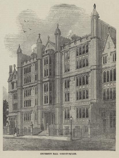 University Hall, Gordon-Square--Giclee Print