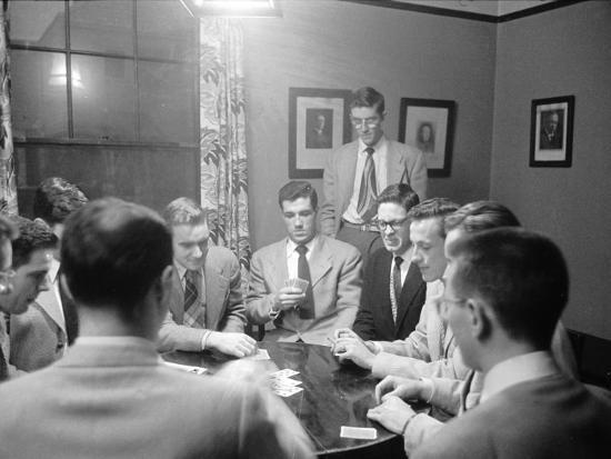 University of Michigan Medical School Students Playing a Game of Poker  after Classes Photographic Print by Alfred Eisenstaedt | Art com