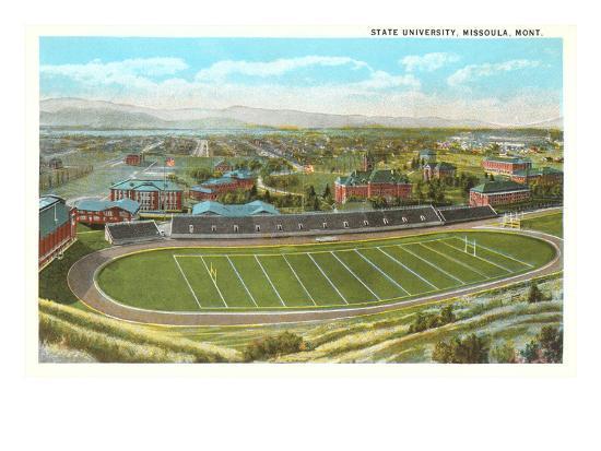 University Playing Field, Missoula, Montana--Art Print