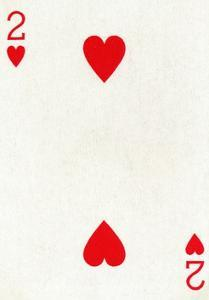 2 of Hearts from a deck of Goodall & Son Ltd. playing cards, c1940 by Unknown