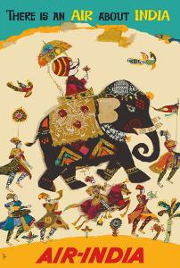 Air India - There is an Air about India - Maharaja in Howdah (Carriage) on Regal Elephant by Unknown