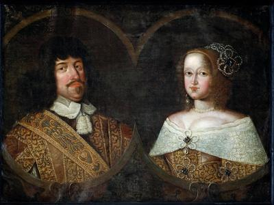 Frederick III of Denmark and his wife Sofia Amalia of Brunswick-Lyneburg, c.1643