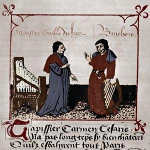 Gilles Binchois (right) Franco-Flemish by Unknown Artist