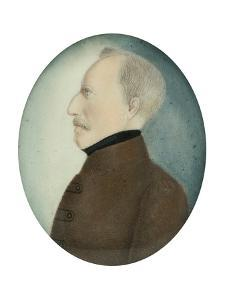 """Miniature of """"Colonel Gustafsson"""" former Gustav IV Adolf King of Sweden, c.1830 by Unknown Artist"""