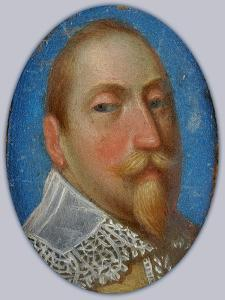 Miniature of Gustav II Adolf, King of Sweden, c.1630 by Unknown Artist