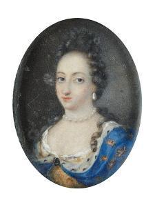 Miniature of Queen Ulrika Eleonora the Elder of Sweden, c.1680 by Unknown Artist
