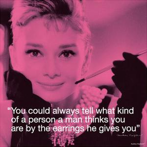 Audrey Hepburn – Earrings by Unknown