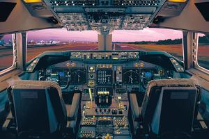 Boeing 747-400 Flight Deck by Unknown