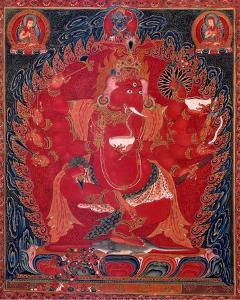 Dancing Red Ganapati of the Three Red Deities, 15-16th c by Unknown