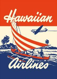 Hawaiian Airlines - Hawaiians in Outrigger Canoe (Wa�a) by Unknown