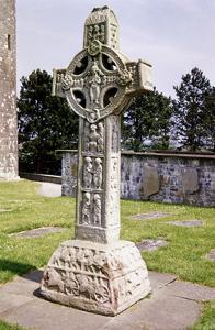 Irish Celtic High Cross, Clonmacnoise, Ireland. 9th century. Artist: Unknown by Unknown