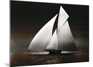 Iverna Yacht at Full Sail, 1895 by Unknown