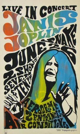 Janis Joplin concert poster, 1970