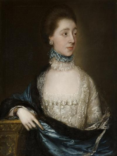 Unknown Lady with a Blue Cloak, C.1765-Thomas Gainsborough-Giclee Print