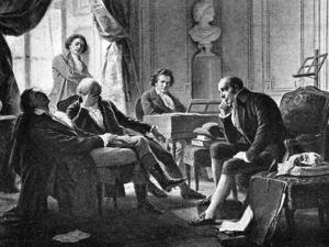 Ludwig van Beethoven and his friends, (1770-1827), German composer, 1909. Artist: Unknown by Unknown