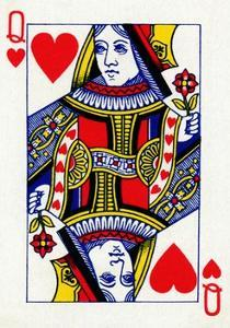 Queen of Hearts from a deck of Goodall & Son Ltd. playing cards, c1940 by Unknown