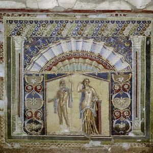 Roman mosaic in the Nymphaeum of the House, Herculaneum, Italy. Artist: Unknown by Unknown