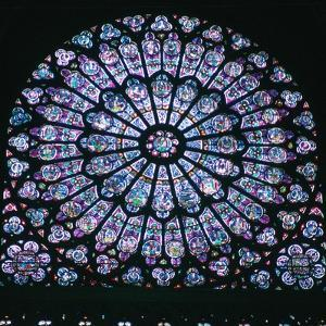 Rose window in Notre Dame, 14th century. Artist: Unknown by Unknown