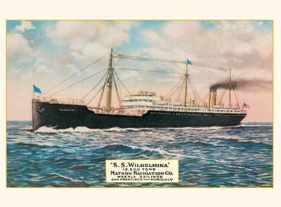S.S. Wilhelmina - Weekly Sailings from San Francisco to Honolulu - Matson Navigation Co.