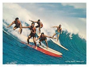 Surfing Waikiki - Honolulu, Hawaii by Unknown