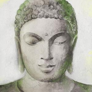 Peaceful Buddha Green by Unknown Unknown