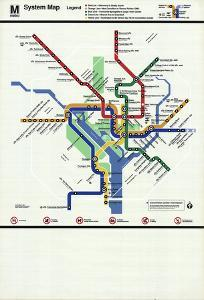Washington D.C. Subway Map by Unknown