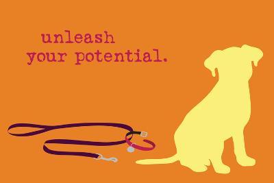 Unleash - Orange Version-Dog is Good-Art Print