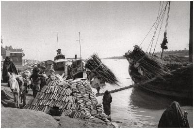 Unloading Cargo from a Boat, Muhaila, Baghdad, Iraq, 1925-A Kerim-Giclee Print