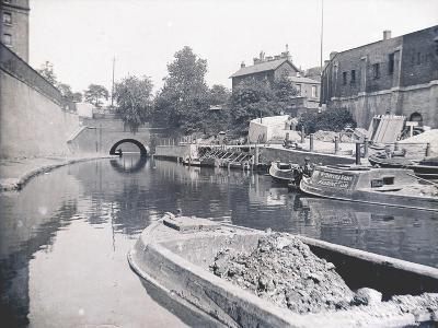 Unloading on the Grand Union Canal, London, C1905--Photographic Print