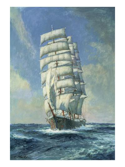 Unnamed Clipper Ship-Claude Marks-Giclee Print