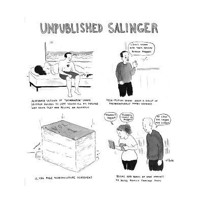 Unpublished Salinger - Cartoon-Emily Flake-Premium Giclee Print