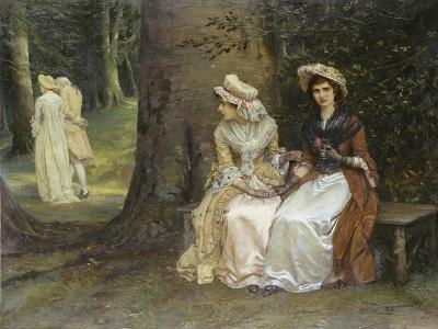 Unrequited Love - a Scene from Much Ado About Nothing, 1880-William Oliver-Giclee Print