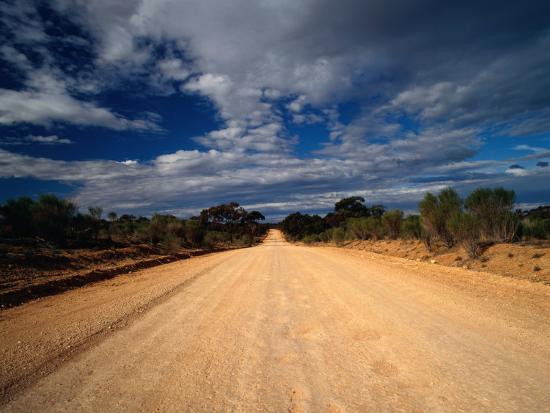 Unsealed Outback Road, Mungo National Park, New South Wales, Australia-Richard I'Anson-Photographic Print