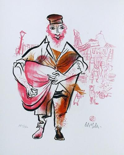 Untitled 10 from the Shtetl Portfolio-William Gropper-Limited Edition