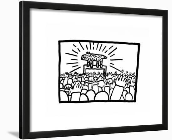 Untitled, 1980-Keith Haring-Framed Art Print