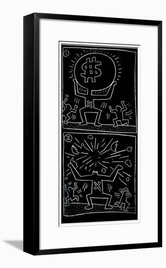 Untitled, 1984-Keith Haring-Framed Giclee Print