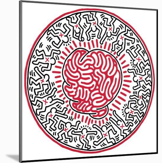 Untitled, 1985-Keith Haring-Mounted Print