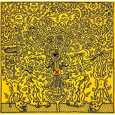 Untitled 1985-Keith Haring-Giclee Print