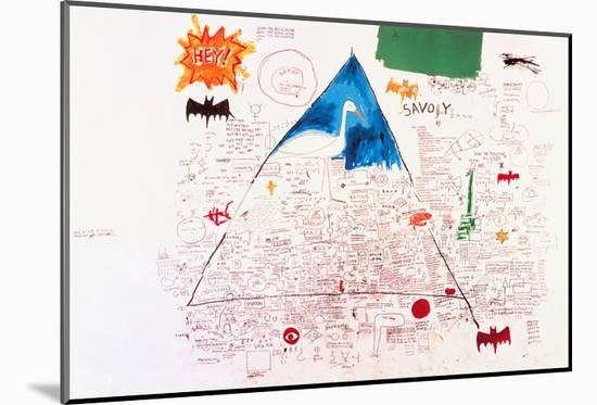 Untitled, 1986-Jean-Michel Basquiat-Mounted Giclee Print