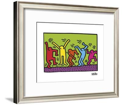 Untitled, 1987 (dance)-Keith Haring-Framed Art Print