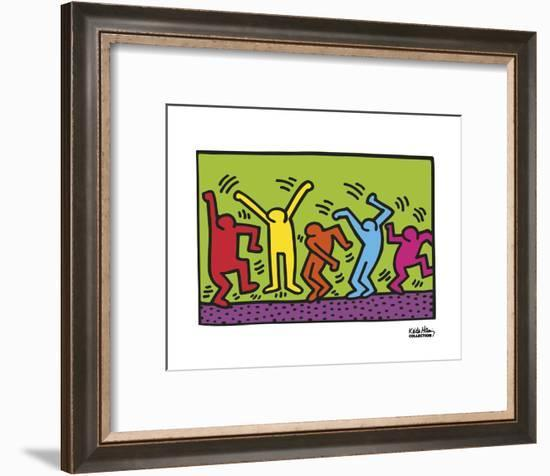 Untitled, 1987 (dance)-Keith Haring-Framed Art Print