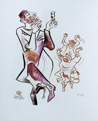 Untitled 21 from the Shtetl Portfolio-William Gropper-Limited Edition