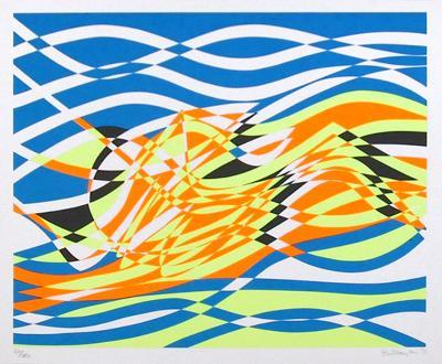 Untitled 4, from the Aquarius Suite-Stanley Hayter-Limited Edition