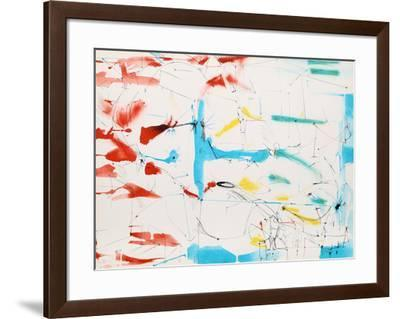 Untitled - Abstract in Primary Colors-Dimitri Petrov-Framed Limited Edition