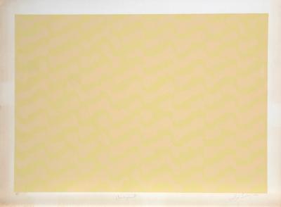 Untitled Abstract in Yellow-Lloyd Fertig-Limited Edition