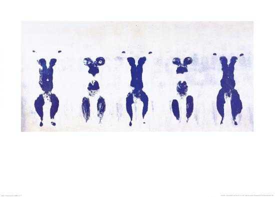 Untitled, Anthropometry, c.1960 (ANT100)-Yves Klein-Art Print