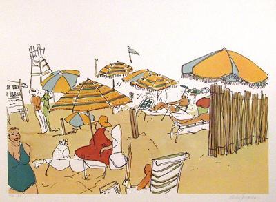 Untitled (Beach Scene)-Vasilios Janopoulos-Limited Edition