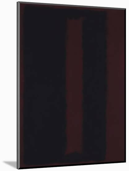 Untitled {Black on Maroon} [Seagram Mural Sketch]-Mark Rothko-Mounted Giclee Print