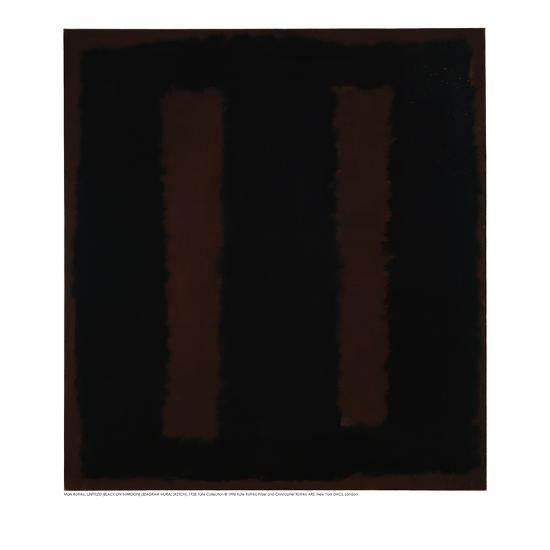 Untitled {Black on Maroon} [Seagram Mural Sketch]-Mark Rothko-Giclee Print